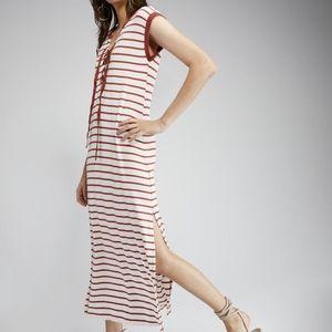 NWT Sanctuary Riviera Striped Midi Dress L